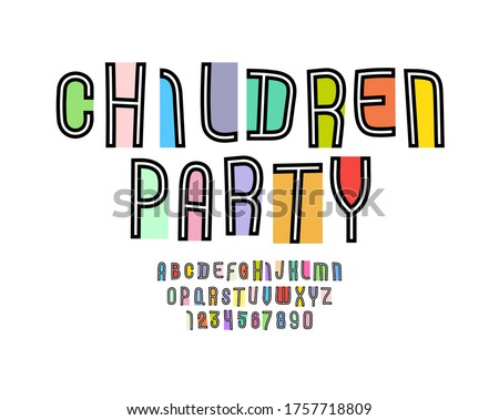 playful colored font  kids