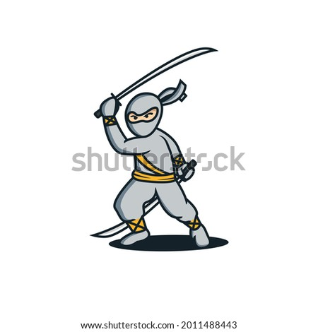 playful modern ninja mascot