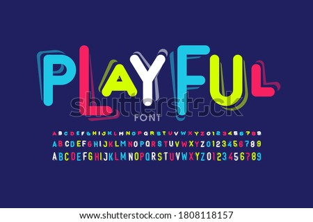 Playful style font design, childish letters and numbers vector illustration Stock photo ©