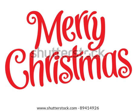 Playful Vector Lettering Series: Merry Christmas - stock vector