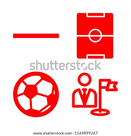 playground icons set with soccer field of stadium from top view, soccer ball and substract vector set