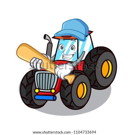 playing baseball tractor