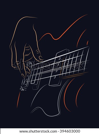 playing bass illustration