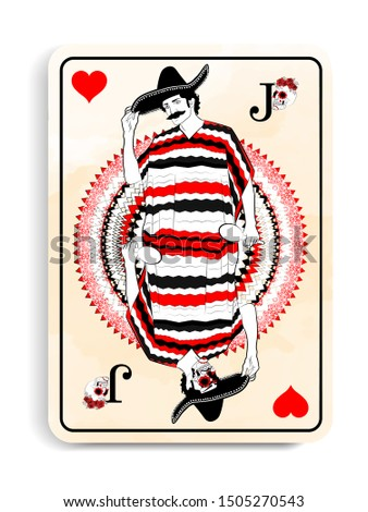 playing card design with the