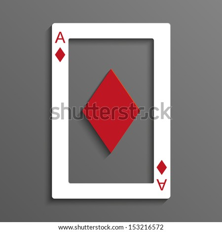 Playing card rustrakehner color ace of diamonds