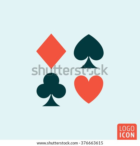 playing card suit icon poker