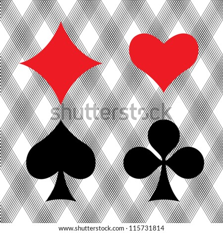 Playing card suits, eps8