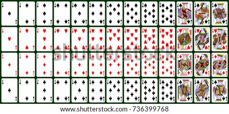 playing cards, classical style. design number 2 ( English pattern )