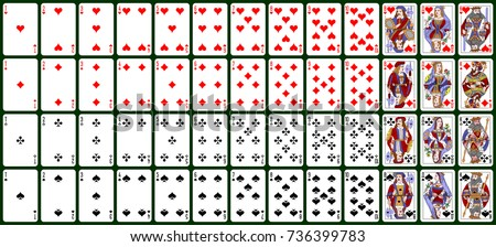 playing cards, classical style. design number 3 ( Russian pattern, Atlasnye )