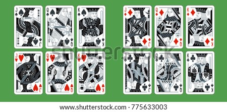 playing cards  classical style