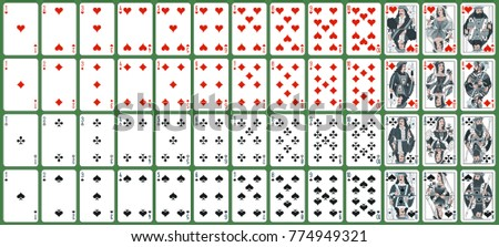 playing cards, classical style ( Russian pattern, Atlasnye ). new design in silver colors.