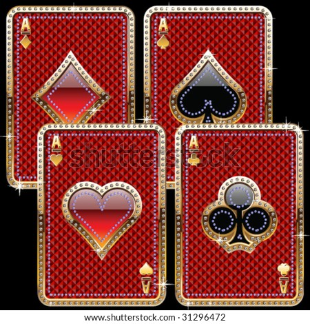 Vintage Style Playing Cards Playing Cards Old Gold Style