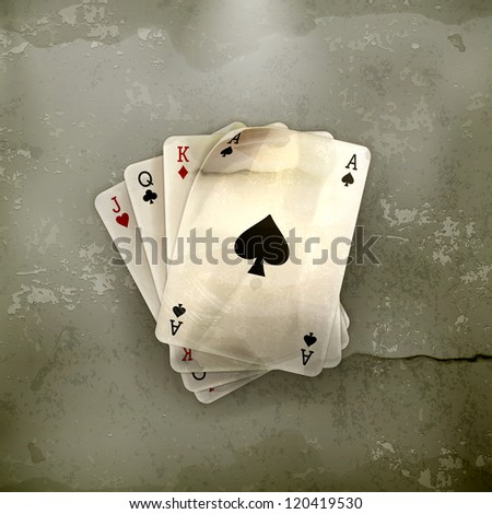 Vintage Style Playing Cards Playing Cards Old-style