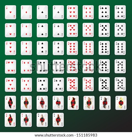 playing cards set   isolated on