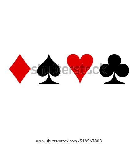 Playing cards symbols vector illustration