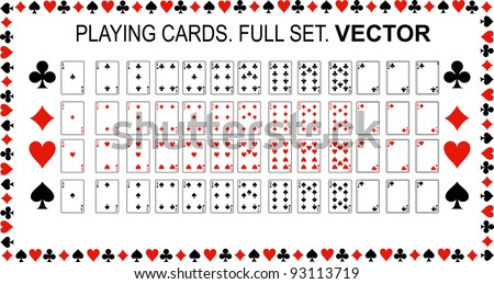 playing cards vector full set