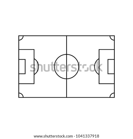playing field vector template