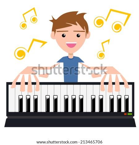 playing keyboard  vector