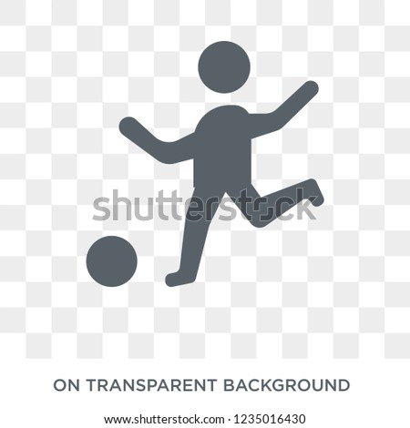 Playing with a Ball icon. Trendy flat vector Playing with a Ball icon on transparent background from People collection.  stock photo