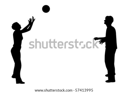 Playing with ball (vector)
