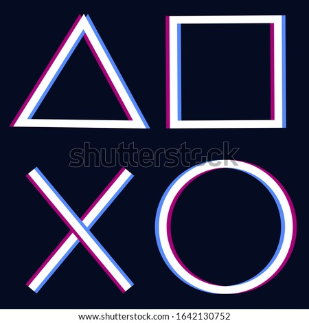 playstation glitch cross triangle square circle design game symbols icons playstation 5