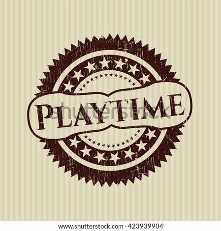 Playtime rubber grunge seal