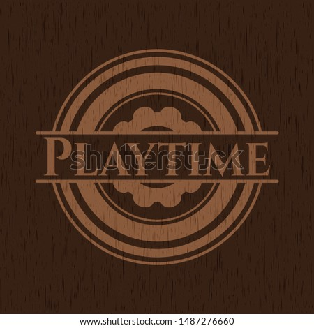Playtime wood signboards. Vector Illustration.