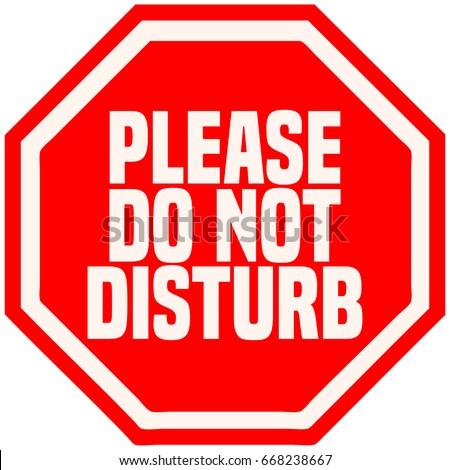 please do not disturb octagonal