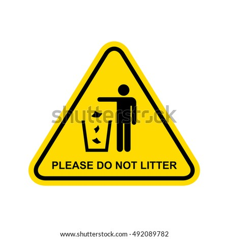 please do not litter sign