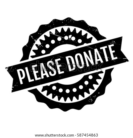 please donate rubber stamp