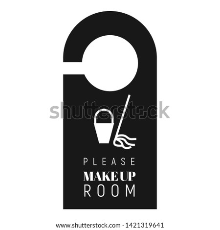 Please make up room tag icon. Simple illustration of please make up room tag vector icon for web design isolated on white background