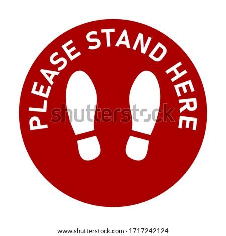 please stand here round floor