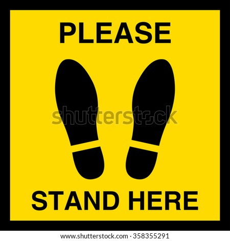 please stand here  symbol or