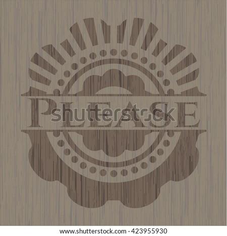 Please wooden emblem