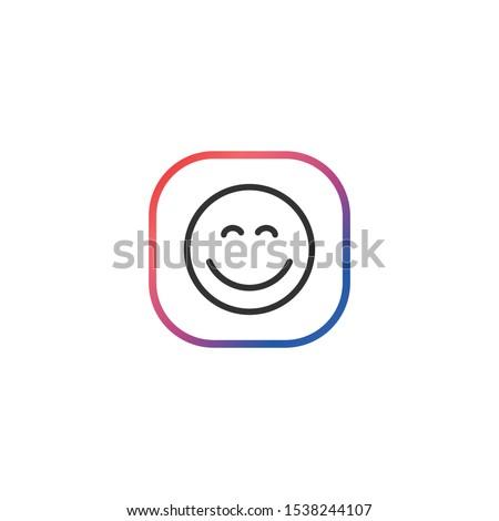 pleased    line vector icon