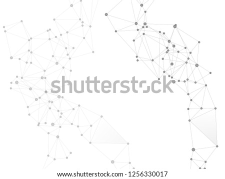 Plexus global network connections with points and lines. Interlinked nodes concept. Scientific plexus background. Network nodes. Molecular, social media, big data cloud structure of connected points.