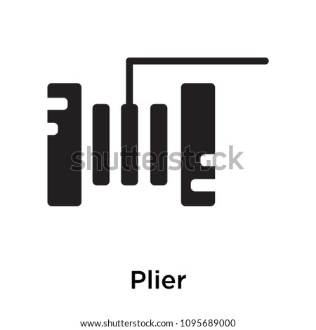 Plier icon isolated on white background for your web and mobile app design, plier vector iconic concept