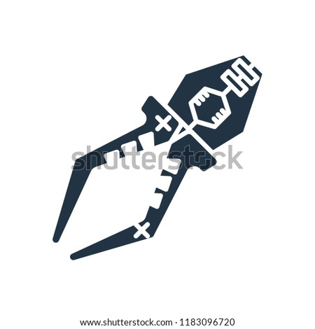 Pliers icon vector isolated on white background for your web and mobile app design, Pliers logo concept