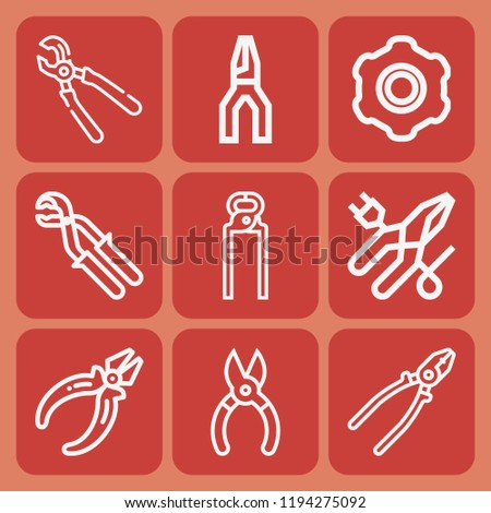Pliers, plier icon set suitable for info graphics, websites and print media and interfaces