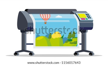plotter  printer vector large