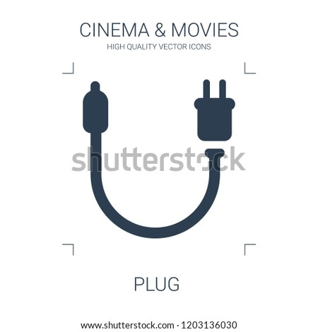 plug icon. high quality filled plug icon on white background. from cinema collection flat trendy vector plug symbol. use for web and mobile