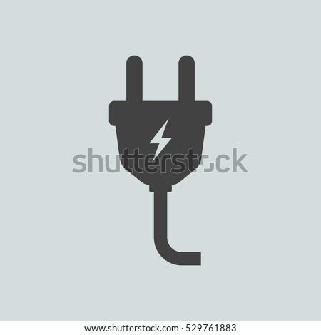 Plug icon vector