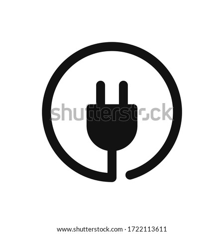 Plug icon vector. Electric plug sign Foto stock ©