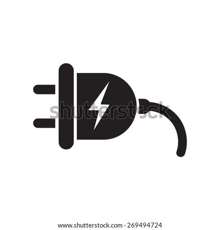 Plug icon, vector illustration