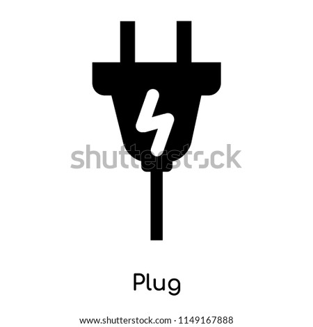 Plug icon vector isolated on white background for your web and mobile app design, Plug logo concept
