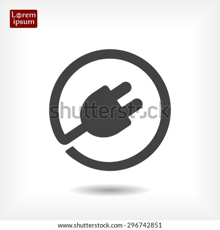 Plug-in, electrical plug vector icon 10 EPS