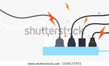 Plug in full power outlet, overload charger
