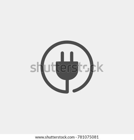 Plug sockets flat vector icon