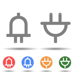 Plug up and down icon vector logo isolated on background