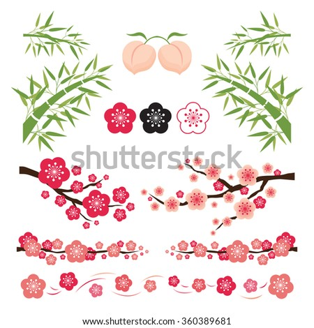 plum blossom and bamboo